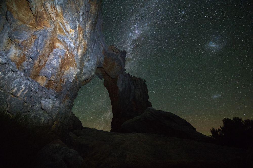 La Star Suite delle rocce in Sudafrica: un'incantevole vista by night